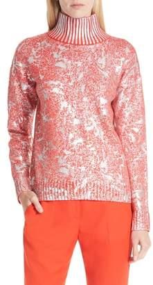 HUGO Sheneen Marbled Metallic Sweater