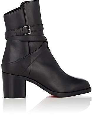 Christian Louboutin Women's Karistrap Leather Ankle Boots - Black