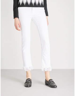 Maje Panaki frayed-hem skinny high-rise jeans