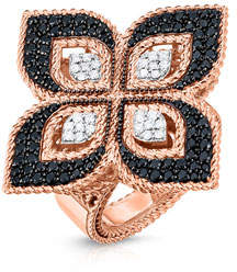 Roberto Coin Venetian Princess 18k Rose Gold Mixed Diamond Ring, Size 6.5