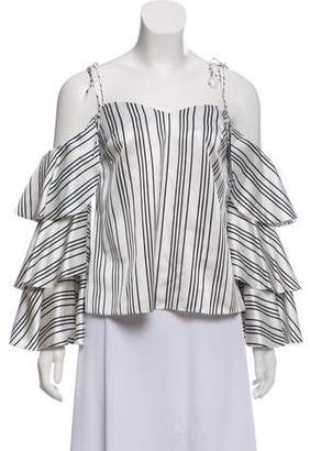 AMUR Off-The Shoulder Stripped Top w/ Tags