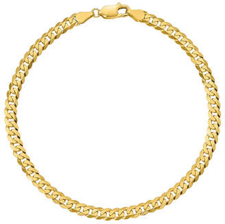 FINE JEWELRY 10K Gold 7 Inch Solid Curb Chain Bracelet