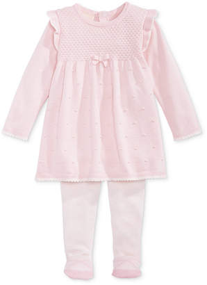 First Impressions Baby Girls Sweater Dress & Footed Tights Set