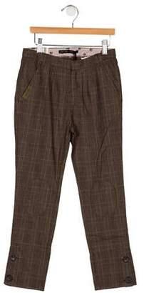 Ikks Girls' Four Pocket Plaid Pants w/ Tags