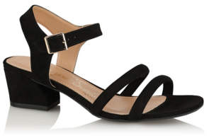 George Black Faux Suede Strappy Heel Shoes