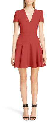 Alexander McQueen Wool & Silk Blend Minidress