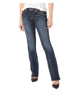 Silver Jeans Co. Elyse Mid-Rise Curvy Fit Slim Boot Jeans in Indigo L03601SSX305