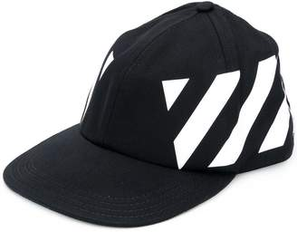 Off-White diagonal stripes printed cap