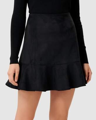 Forever New Kiara Fit & Flare Suedette Mini Skirt
