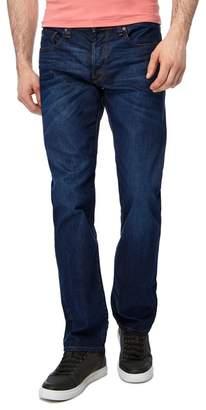 G-Star - Blue Dark Wash '3301' Straight Jeans