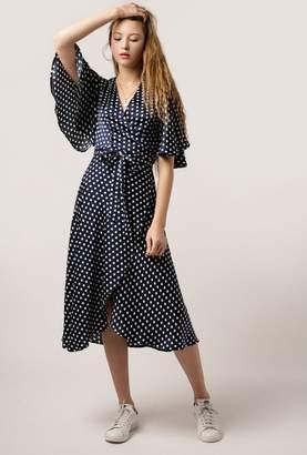 Azalea Polka Dot Wrap Maxi Dress