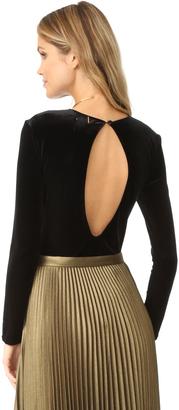 MISA Eliza Bodysuit $132 thestylecure.com