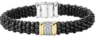 Women's Lagos 'Black Caviar' Diamond Rope Bracelet $1,500 thestylecure.com