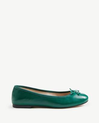 Ann Taylor Matilde Leather Ballet Flats