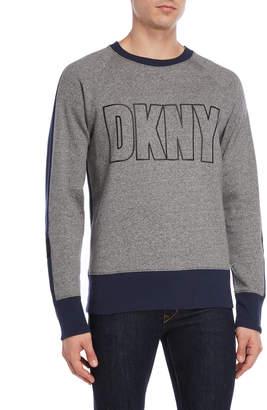 DKNY Gel Logo Color Block Pullover