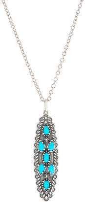 American West Sleeping Beauty Turquoise Sterling Silver Pendant