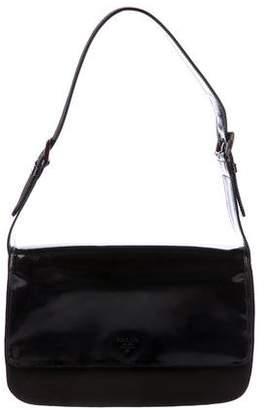 Prada Gucci Spazzolato Shoulder Flap Bag