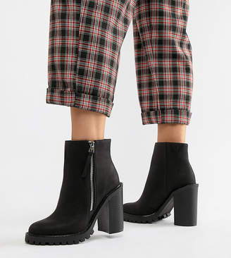 01ec6f3aa6bd ... Asos DESIGN Wide Fit Brody Chunky Zip Boots