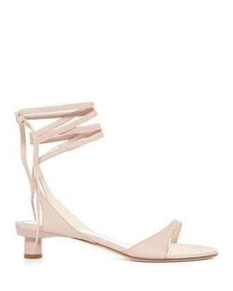Tibi Scott Ankle-Tie Leather Sandals
