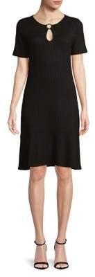 MICHAEL Michael Kors Ruffle-Trim Ribbed Dress