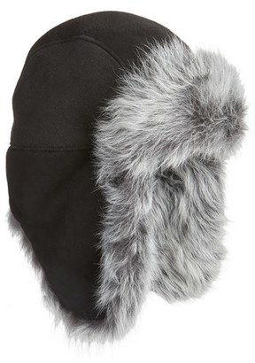 UGG ® Genuine Shearling Trapper Hat $225 thestylecure.com