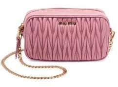 Miu Miu Convertible Leather Crossbody Bag