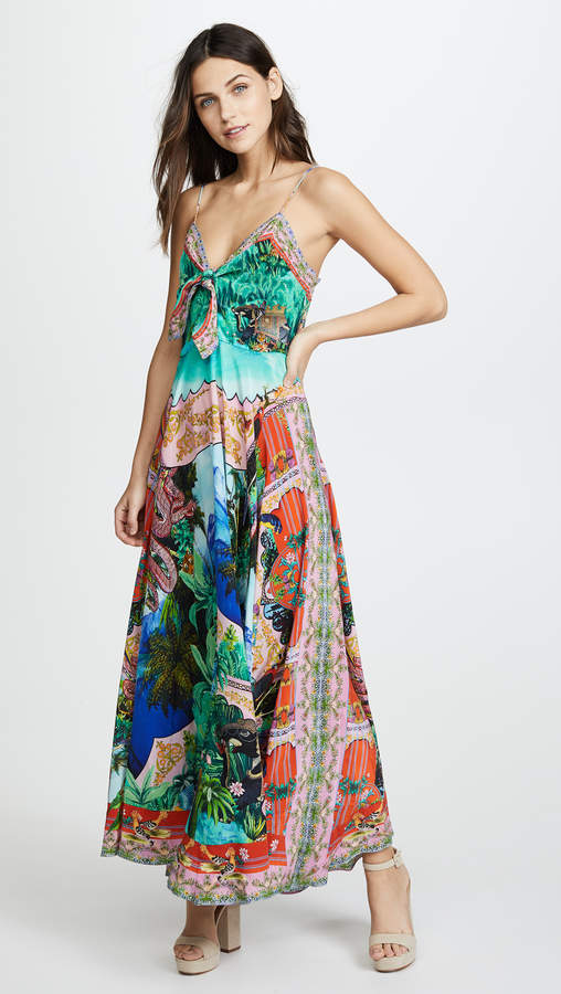 Bennys Blessing Tie Front Long Dress