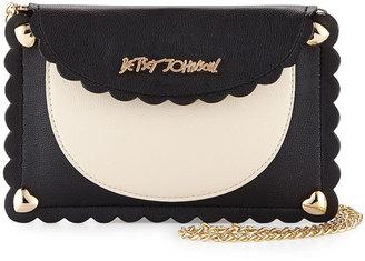 Betsey Johnson Wavy Days Phone Crossbody Bag, Cream/Black $55 thestylecure.com