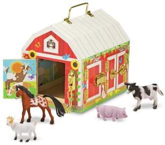 Melissa & Doug Wooden Latches Barn Playset