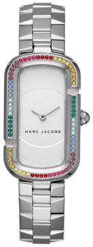 Marc Jacobs The Jacobs Stainless-Steel Rainbow Glitz Bezel Two-Hand Bracelet Watch