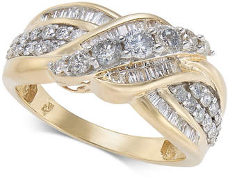 Macy's Diamond Overlap Cluster Ring (1 ct. t.w) in 14k Gold