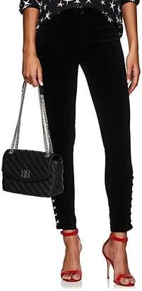 L'Agence Women's Piper Velvet Skinny Jeans - Black