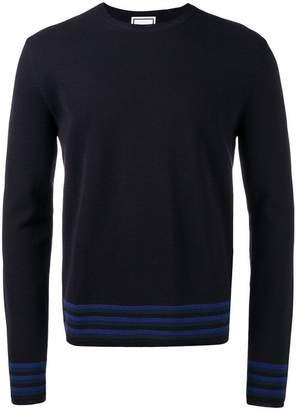 Wooyoungmi stripe trim sweater
