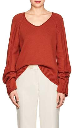 Derek Lam WOMEN'S CASHMERE-COTTON V-NECK SWEATER