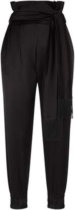 Mother of Pearl Satin Tie-Waist Trousers