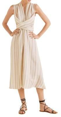 MANGO Wrap-Front Midi Dress