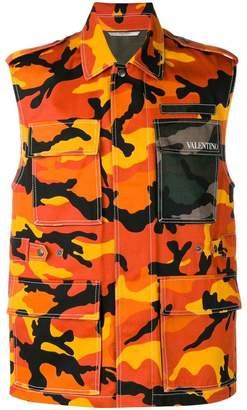 Valentino CamouShuffle sleeveless jacket