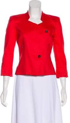 Helmut Lang Linen-Blend Asymmetrical Zip-Up Jacket