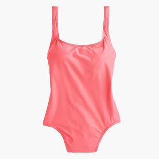 J.Crew Women's 1989 long torso scoopback one-piece swimsuit