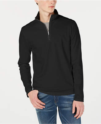 8d9bbeec537 Calvin Klein Men Solid Liquid Touch Quarter-Zip Sweater