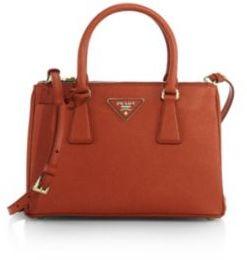 Prada Saffiano Lux Small Double-Zip Tote $1,850 thestylecure.com