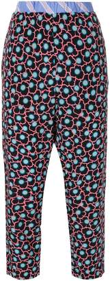 Marni cropped floral print trousers