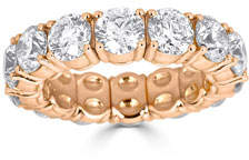 ZYDO Stretch 18k Rose Gold Large Round Diamond Ring