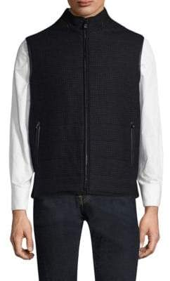 Corneliani Reversible Quilted Stand Collar Vest