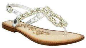 Naughty Monkey Rock On Embellished Leather Thong Sandals $80 thestylecure.com