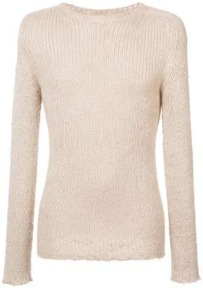 Rick Owens longline knitted jumper