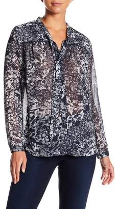 NYDJ Front Tie Solid Blouse