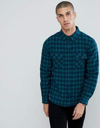 Another Influence Flannel Check Shirt with Twin Pocket