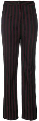 Unconditional striped flared trousers