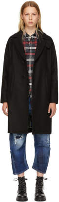 DSQUARED2 Black Wool Chic Bogart Coat